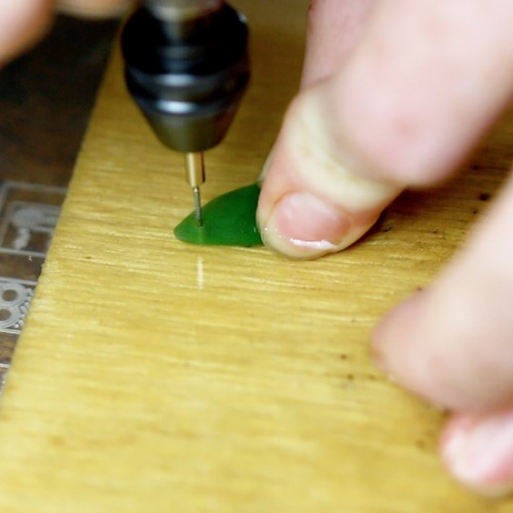 drilling sea glass