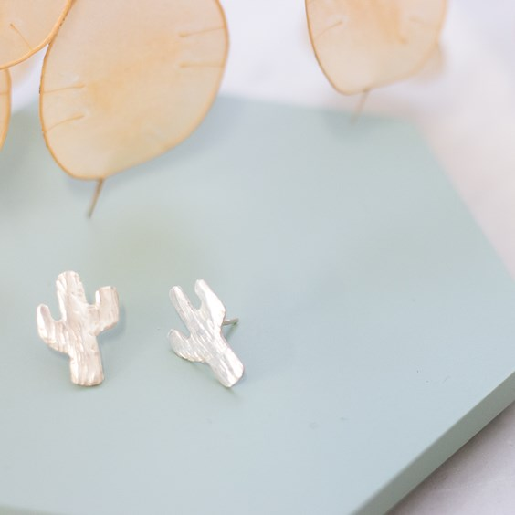 hannah's cactus earrings