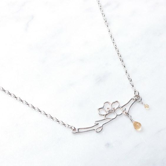 Cherry Blossom & Lemon Drop Necklace