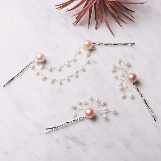 Pearl Wedding Inspired Hair Accessories