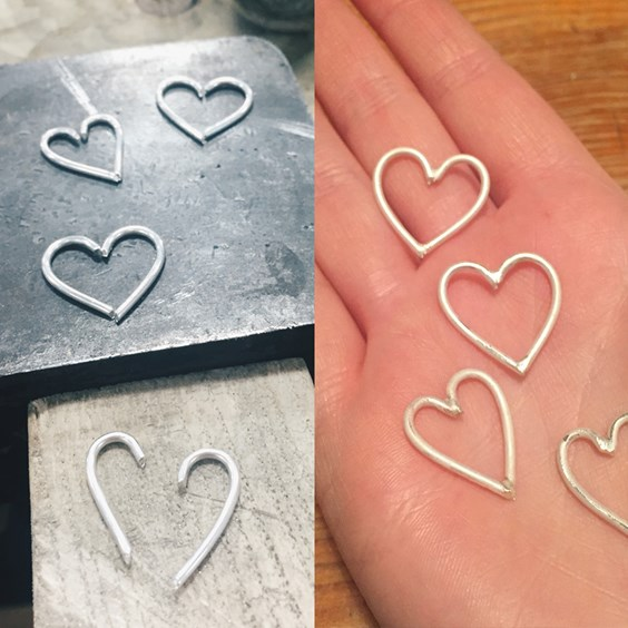 making wire hearts