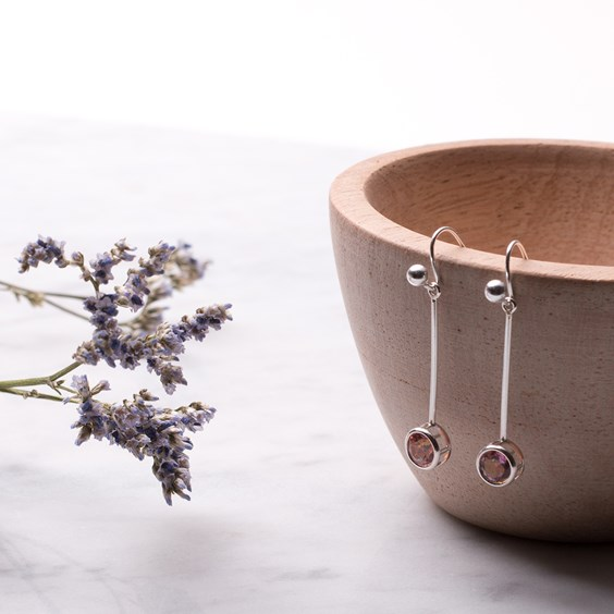 Blossom Pink Drop Earrings