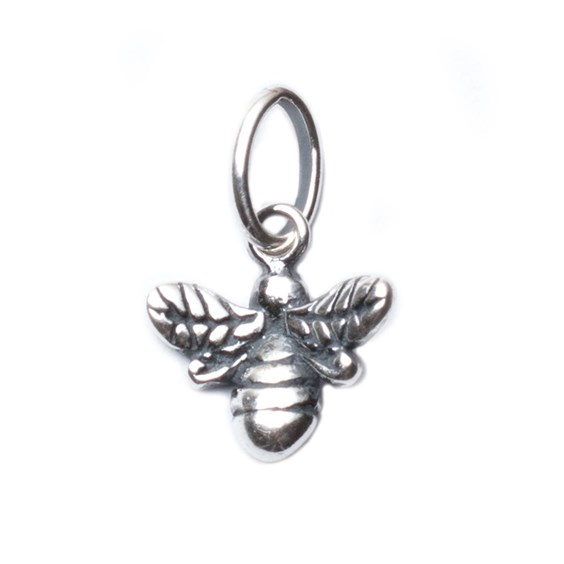Sterling Silver Bumble Bee Charm, 11mm