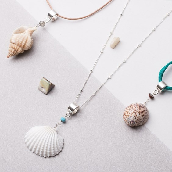 Shell & Turquoise Necklace