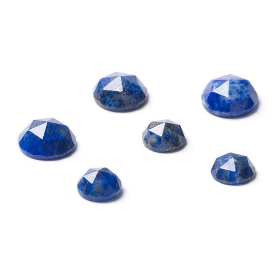 Lapis Lazuli Rose Cut Cabochons