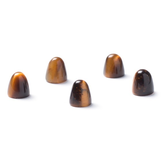 Tiger's Eye Bullet Shaped Cabochons, Approx 5mm