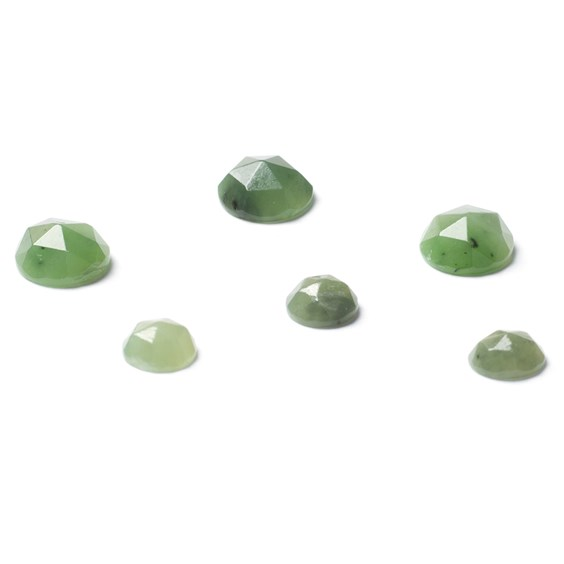 Nephrite Jade Rose Cut Cabochons