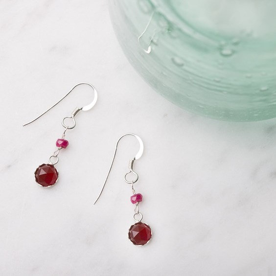 Carnelian & 'Ruby' Earrings