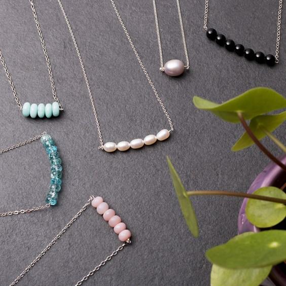 bead bar necklace tutorial