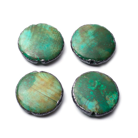 Dragon Veined Agate Coin Beads