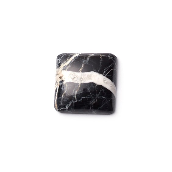 White Buffalo Cabochon, Approx 16mm Square