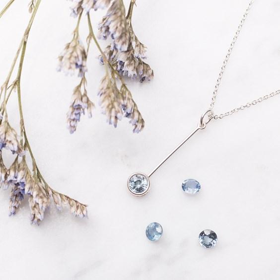 Cornflower Blue Sapphire Necklace