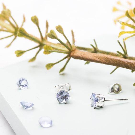 Tanzanite Snaptite Earrings