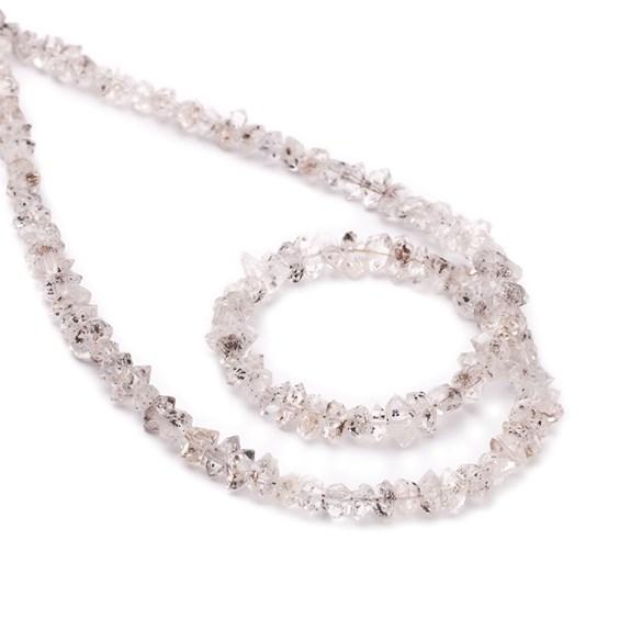 Herkimer 'Diamond' Quartz Beads, Approx 6x3mm to 14x5mm