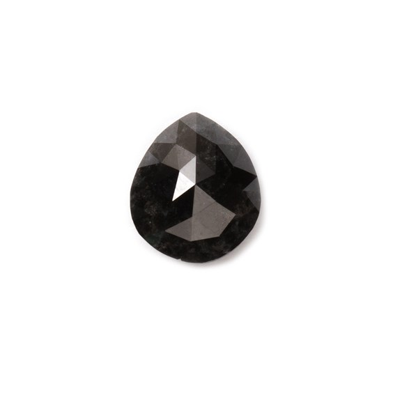 Black Diamond Rose Cut Cabochon, Approx 7.5x6.5mm Teardrop