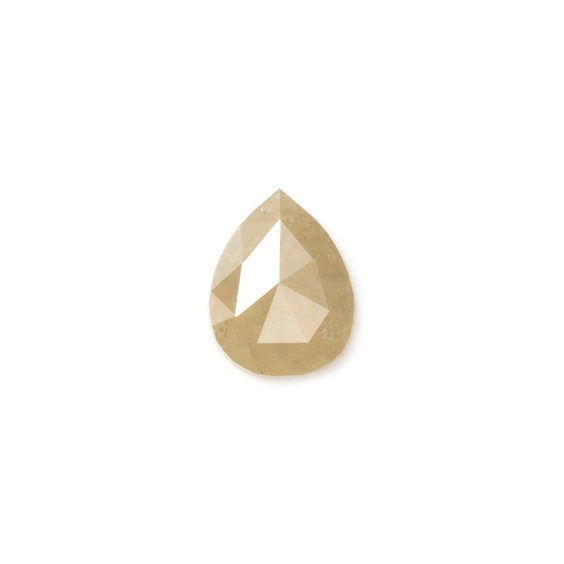 Champagne Diamond Rose Cut Cabochon, Approx 5.5x4.5mm Teardrop