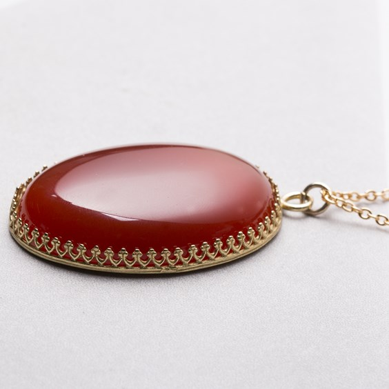 Statement Carnelian Necklace