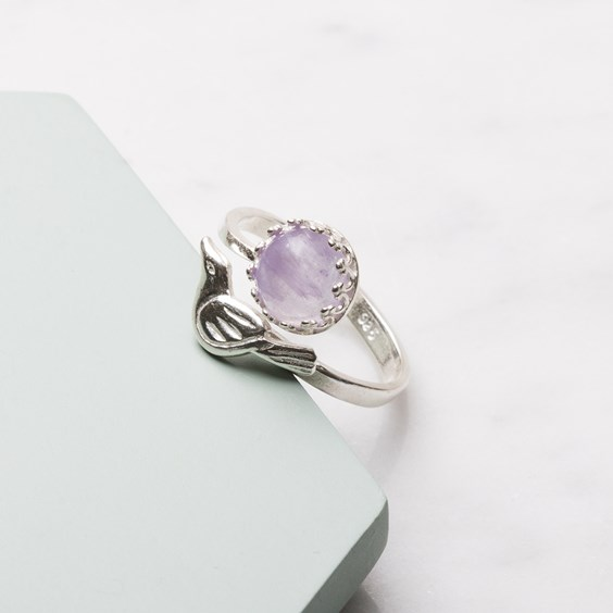 Lavender Amethyst Bird Ring