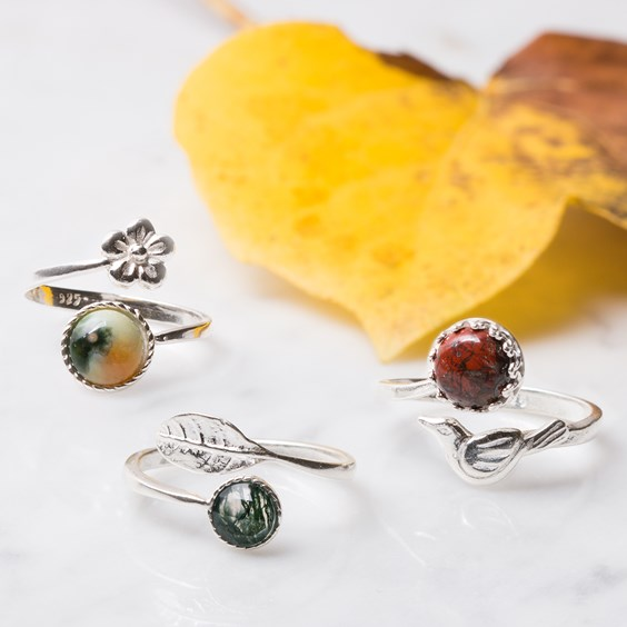 Autumnal Gemstone Rings