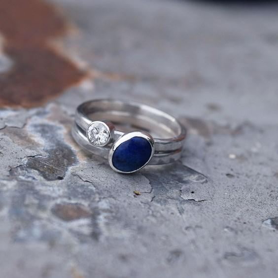 moonsalt jewellery lapis engagement ring