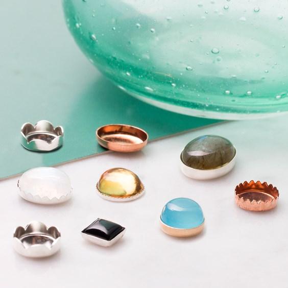 bezel cups for jewellery making