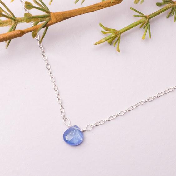 tanzanite briolette necklace