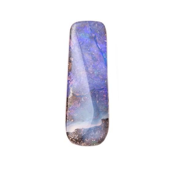 Freeform Australian Boulder Opal, Approx 27x9.5mm