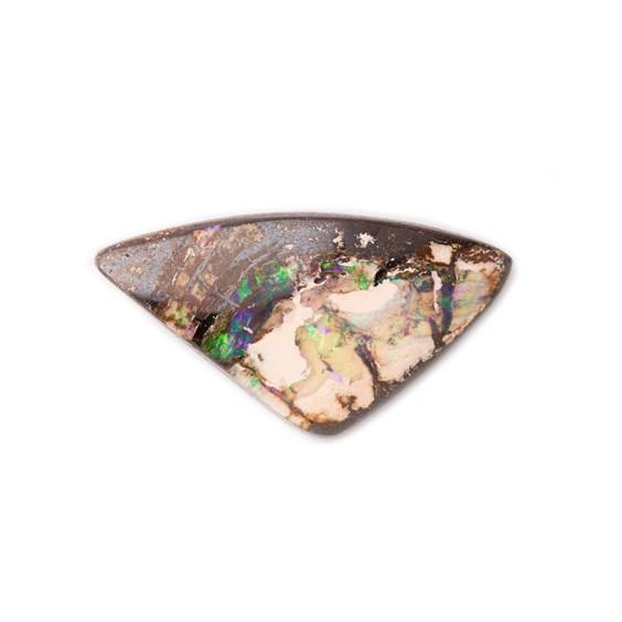 Freeform Australian Opalised Wood Opal, Approx 22.5x12mm