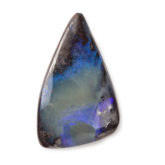 Freeform Australian Boulder Opal, Approx 31.5x19mm
