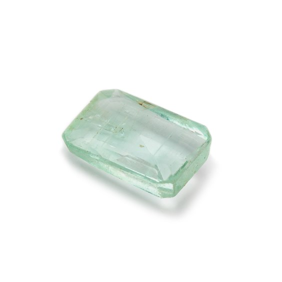 Emerald Faceted Stone, Approx 12x9mm Rectangular