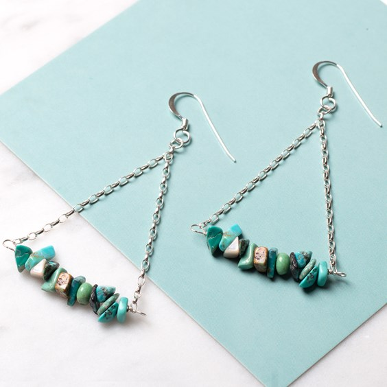 Turquoise Chip Bead Earrings
