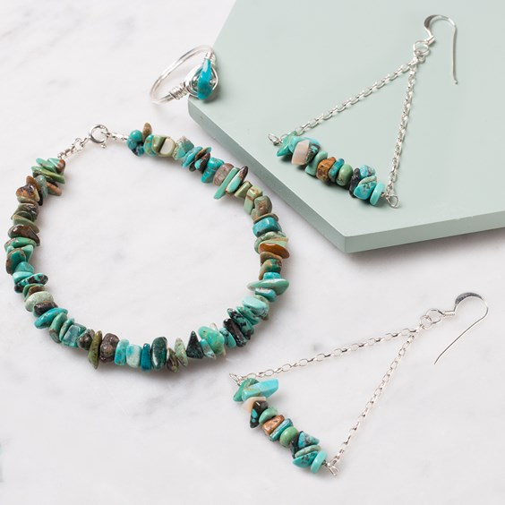 gemstone chip bead jewellery projects