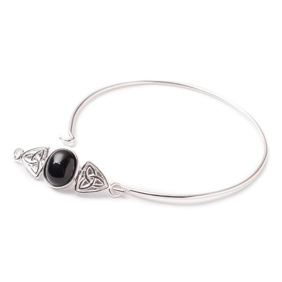 Onyx Celtic Knot Bangle