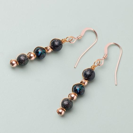 Wire Wrapped Boulder Opal Earrings