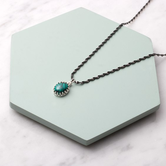 Chinese Spiderweb Turquoise Necklace