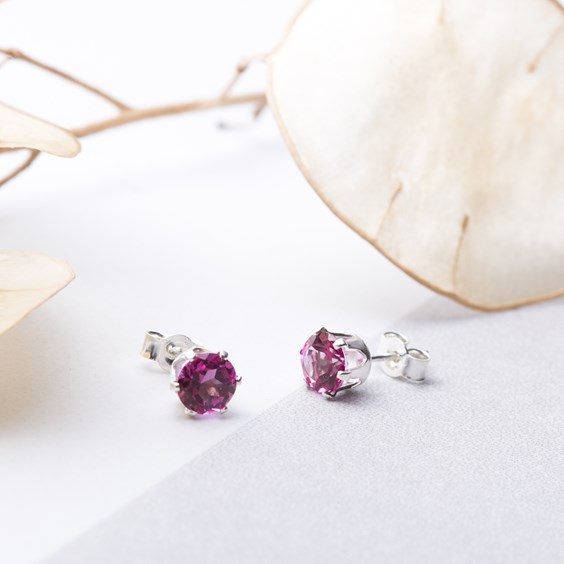 Pink Topaz Snaptite Earrings