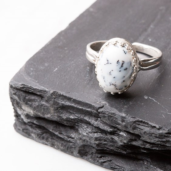 Dendrite Opal Ring
