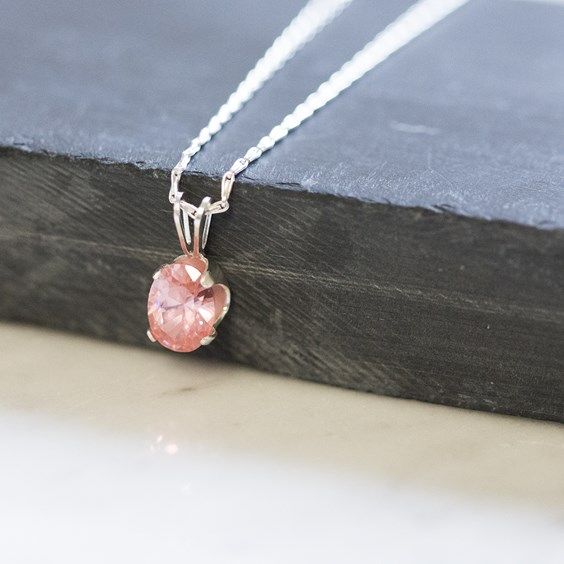 Candy Pink Cubic Zirconia Necklace