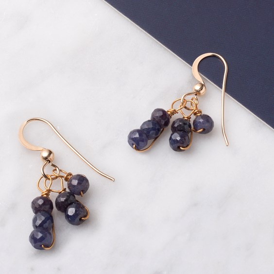 Corundum 'Sapphire' Earrings