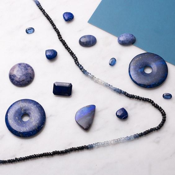 classic blue stones