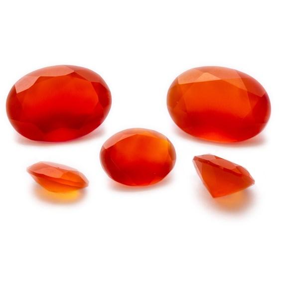 Carnelian Faceted Stones