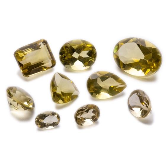 Lemon Citrine Faceted Stones
