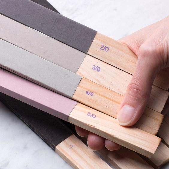 Set Of 8 Sanding And Polishing Sticks