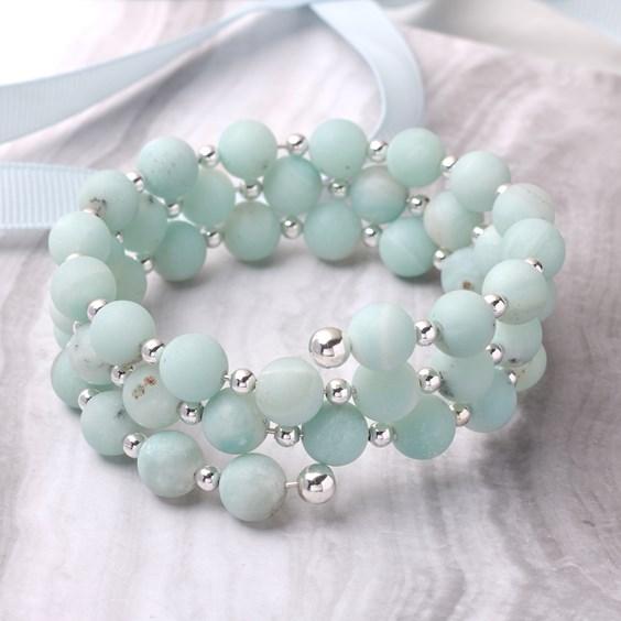 Amazonite Memory Wire Bracelet