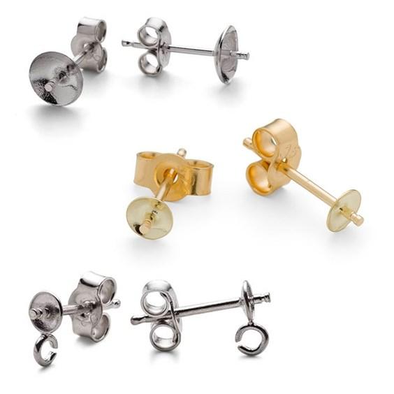 half drilled earstuds