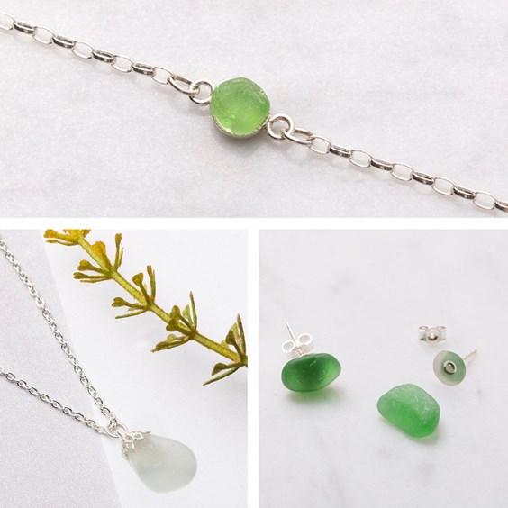 Beginner's Sea Glass Jewellery Bundle