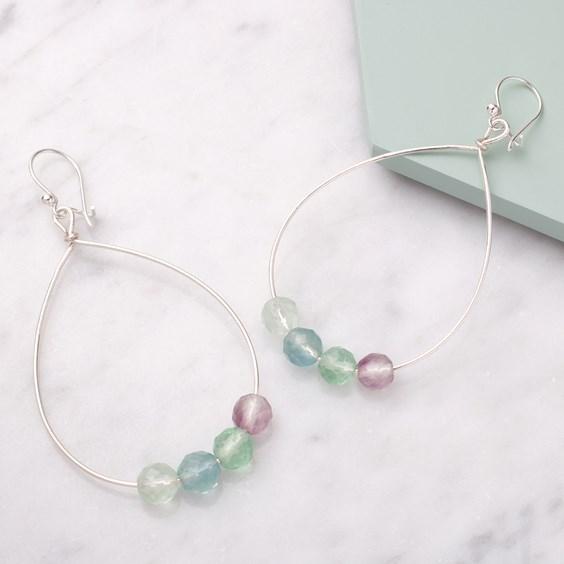 how to make beaded hoop earrings