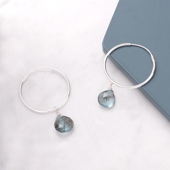 Moss Aquamarine Briolette Earrings
