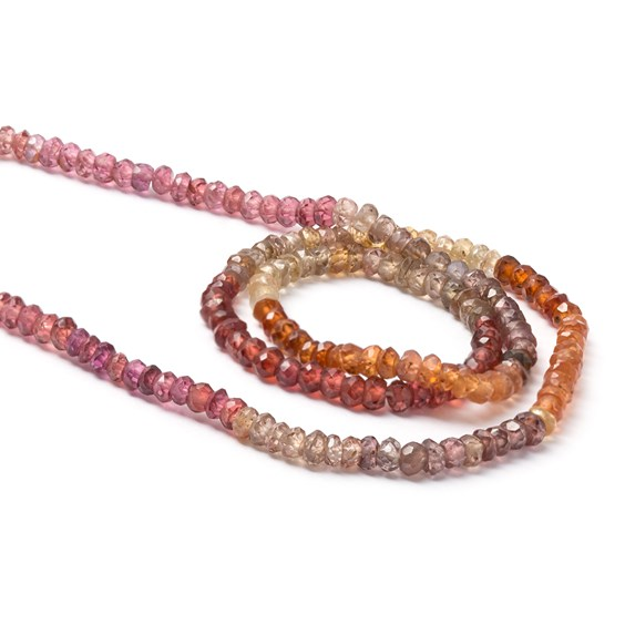 Turundu 'Sapphire' Faceted Rondelle Beads, Approx 3x2mm