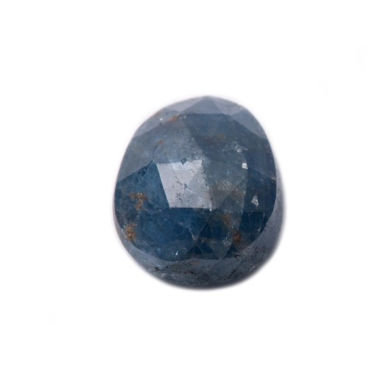 Sapphire Rose Cut Freeform Slice, Approx 7.5x6mm